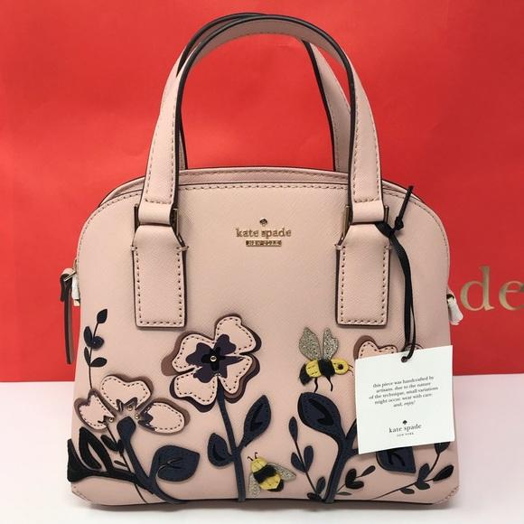 513e38fe6ed4 NWT kate spade blossom drive small Lottie satchel